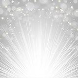 Silver Sunburst Background