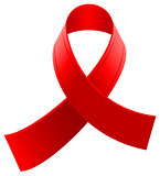 Red loop ribbon symbol World AIDS Day