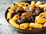 rustic italian oxtail ragu pasta