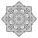 Flower Mandala. Vintage decorative elements.