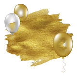 Golden Blot With Balloons