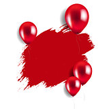 Red Blot With Balloons