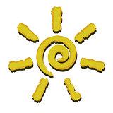 Spiral sun icon