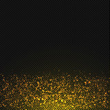Vector gold glitter dust texture. Transparent glitter sparkle trail
