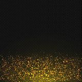 Vector gold glitter dust texture. Transparent glitter sparkle trail