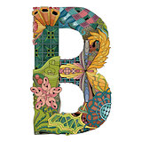 Letter B zentangle. Vector decorative object