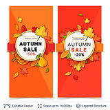 Autumn sale banner template.