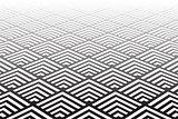 Geometric pattern. Diminishing  perspective view.