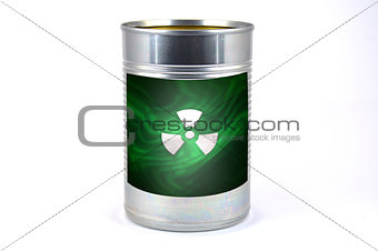 Tin cans on a white background