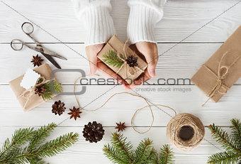 gift boxes on white