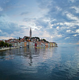 Rovinj. Beautiful romantic old town of Rovin during sunset,Istrian Peninsula,Croatia,Europe.