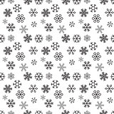 Christmas snowflakes on white background. Seamless pattern. Vector Illustration.