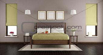 Modern master bedroom