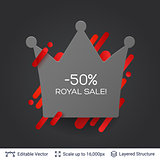 Black Friday Royal Sale badge.