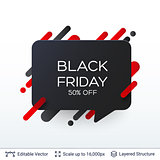 Black Friday Discount Badge.