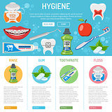 dental hygiene banner and infographics