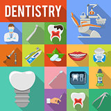 Set Dental Services Icons