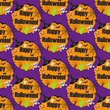 Halloween seamless pattern. Infinite background, repeating texture. Vector illustration.