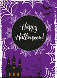 Halloween poster. Happy Halloween templates for your invitation design, greeting card, flyer. Vector illustration.