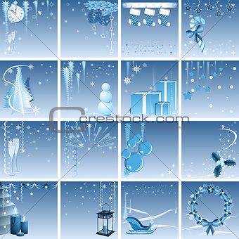 Blue Christmas set