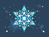 Abstract snowlflake flat design