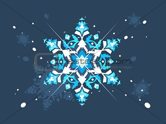 Abstract snowlflake flat design