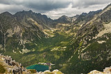 Popradske pleso lake valley in High Tatra Mountains, Slovakia, Europe