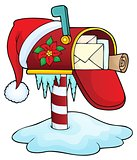 Christmas mailbox theme image 1