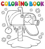 Coloring book Christmas mailbox