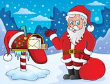 Santa Claus and mailbox theme 1