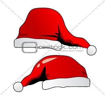 Santa's hat isolated on white