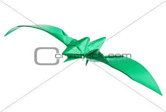 Green pterodactyl of origami