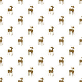 Deer cartoon vector seamless pattern.