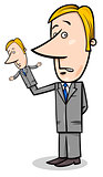 puppeteer businessman concept cartoon