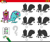 educational shadow activity with monsters