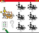 monsters educational shadow game