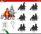 educational shadow game with knights