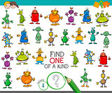 find one of a kind game with aliens characters