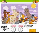 counting dogs and cats activity game