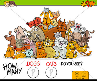 counting cats and dogs activity game