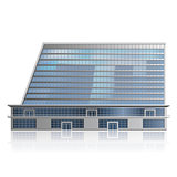detached multistory office building, business center with reflec