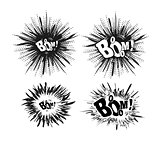 Comic speech bubble stars. Explosion vector