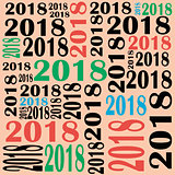 Template for drawing a greeting card or another calendar for 20018.