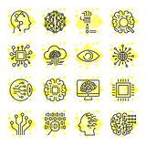 Icon set for artificial intelligence