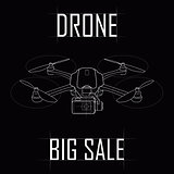 Contour drawing of the drone, big sale