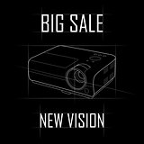 A contour drawing of the projector, a big sale, a new vision