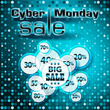 Cyber Monday sale colorful background.