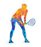 tennis player, silhouette