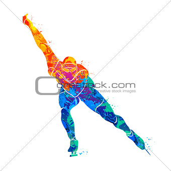 Abstract speed skaters