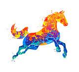 Galloping horse Abstract